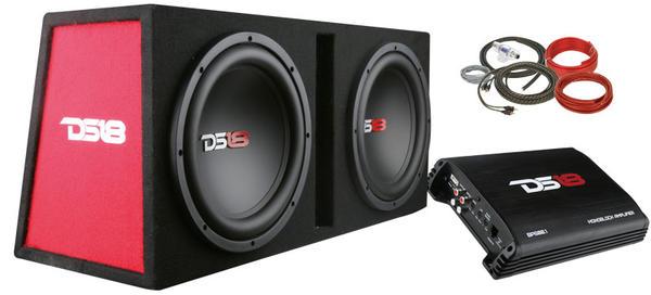 """DS18 BP210 1200 Watt Twin 10"""" Subwoofer Amplifier Bass Package Thumbnail 2"""
