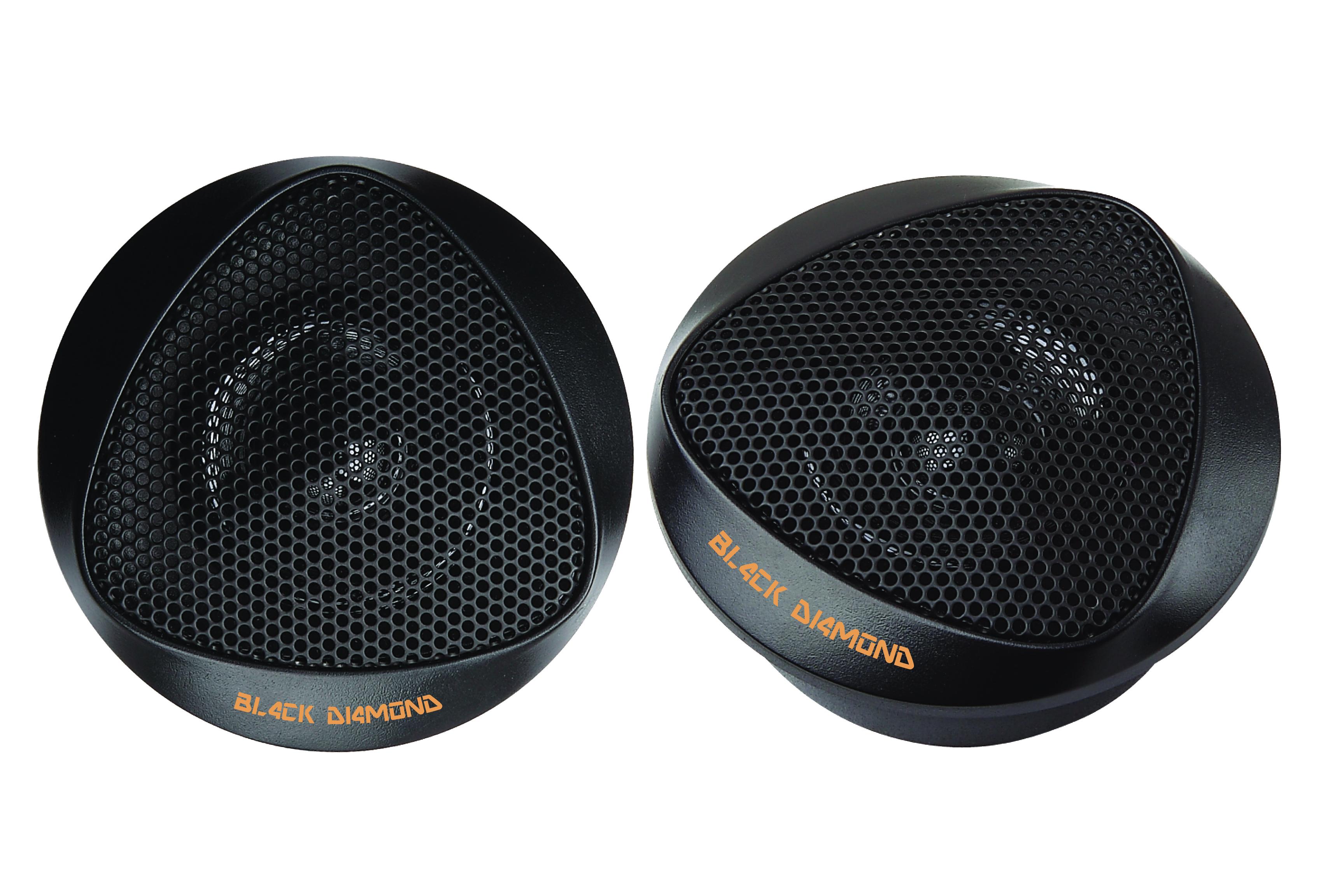 DS18 BD-BT1 Black Diamond Series High Quality Car Audio 100 Watts Dome Tweeters Thumbnail 1