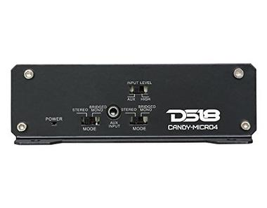 DS18 CANDY-MICRO4 Car Audio 240 Watt RMS 4 Channel Micro Amplifier Single Thumbnail 2