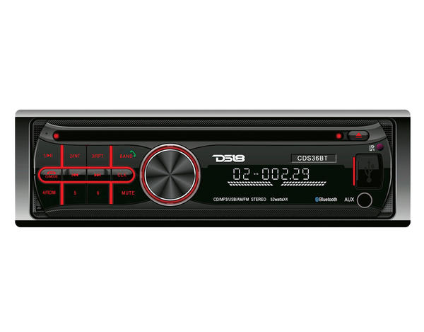 DS18 CDS36BT CD MP3 AUX USB Radio 52w x 4 Head Unit Thumbnail 1