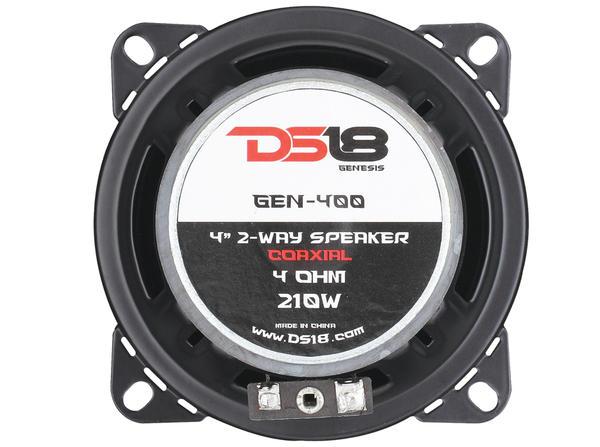 "DS18 GEN-400 Genesis 210 Watts 4"" Inch Coaxial Speakers Pair Thumbnail 7"