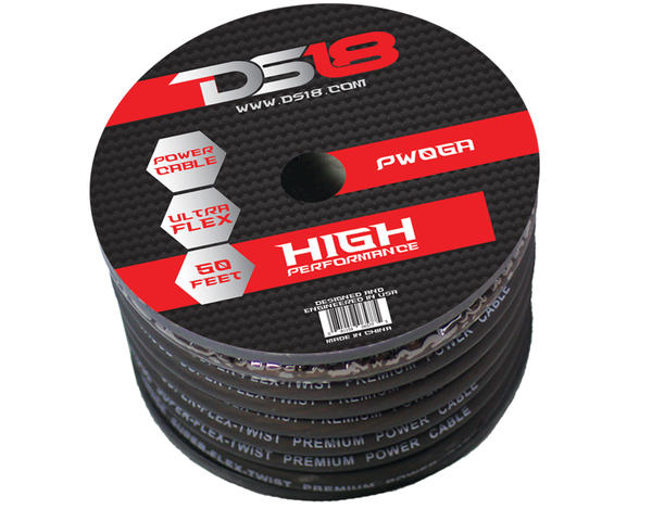 DS18 PW-0GA-50BK 50 ft Foot Power Ground Cable Thumbnail 1
