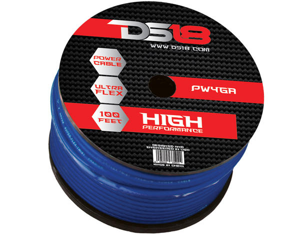 DS18 PW-4GA-100BL 100 ft Foot Power Ground Cable Thumbnail 1