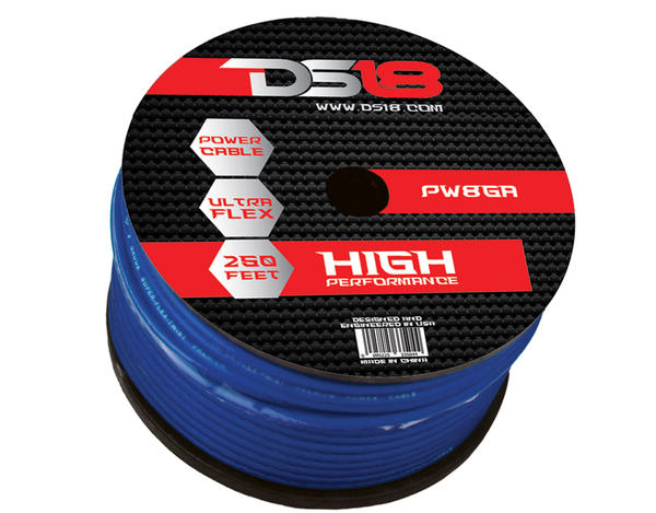DS18 PW-8GA-250BL 250 ft Foot Power Ground Cable Thumbnail 1