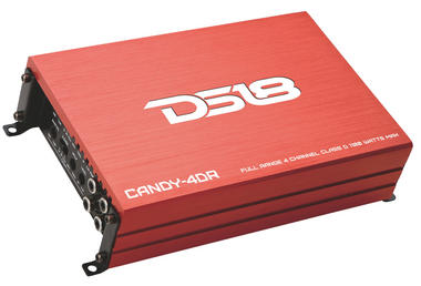 DS18 CANDY-4DR Candy Series Car Audio 4 Channel Stereo 1100 Watt Amplifier Thumbnail 1