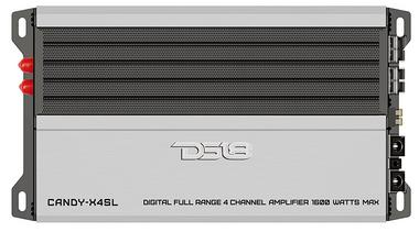 DS18 CANDY-X4SL Car Audio Silver 1600 Watt Max 4 Channel Class D Amplifier Single Thumbnail 1