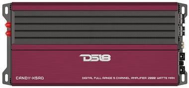 DS18 CANDY-X5RD Car Audio Red 2000 Watt 5 Channel Class D Amplifier Single Thumbnail 1