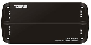 DS18 GEN-X1200.2 1200 Watts Car Audio 2 Channel Amplifier Bass Remote Knob Single Thumbnail 1