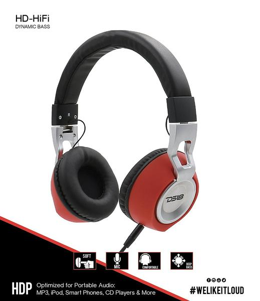 DS18 HDP Foldable Wired Headphones with built in Microphone Single Thumbnail 6