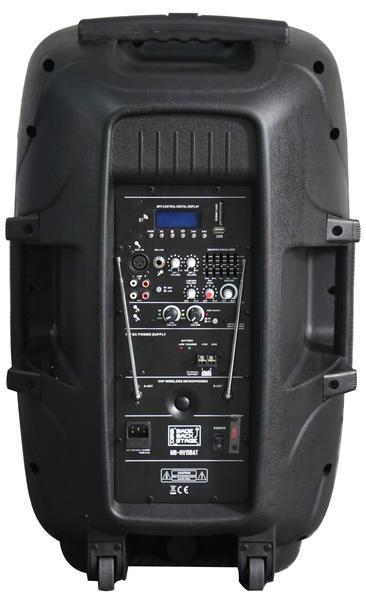 "DS18 MB-NV15BAT 2000 Watt 15"" PA DJ Active Loud Speaker Thumbnail 3"