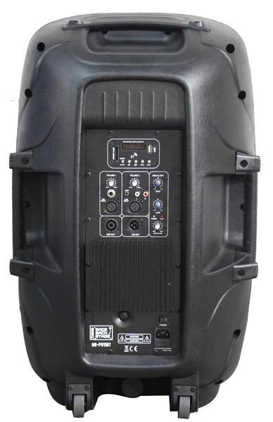 "DS18 MB-PW15BT 2000 Watt 15"" Bluetooth PA DJ Active Loud Speaker Thumbnail 2"
