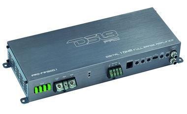 DS18 PRO-FR1500.1 Car Audio 1500 Watt Full Range Class D Monoblock Amplifier Single Thumbnail 1