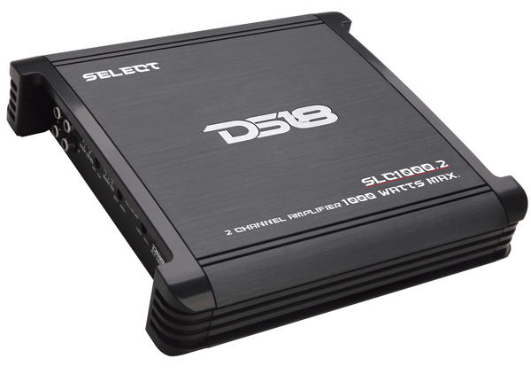 DS18 SLC1000.2 Select Series Car Audio 2 Channel Stereo 1000 Watt Amplifier Thumbnail 1