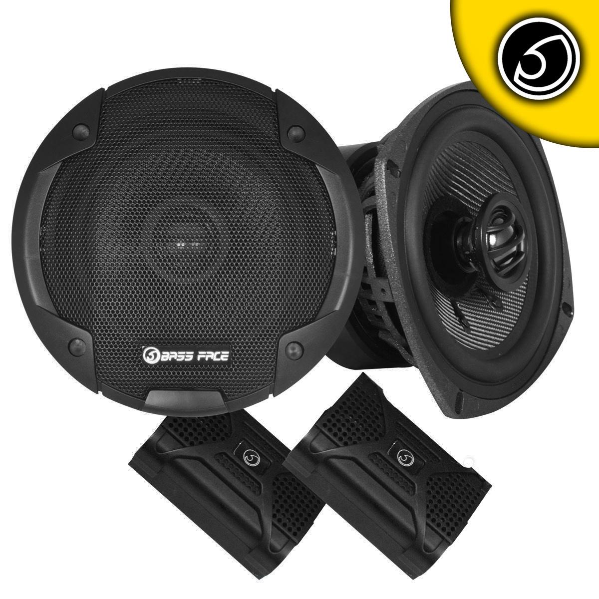 "Bassface BLACKSPL5.1 640w 5.25"" Inch 13cm 4Ohm Coaxial 2 Way Speaker Pair"