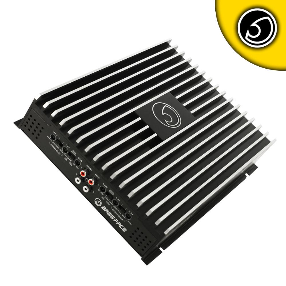 Bassface DB4.1 1600w 4/3/2 Channel Bridgeable Stereo 12v Power Amplifier