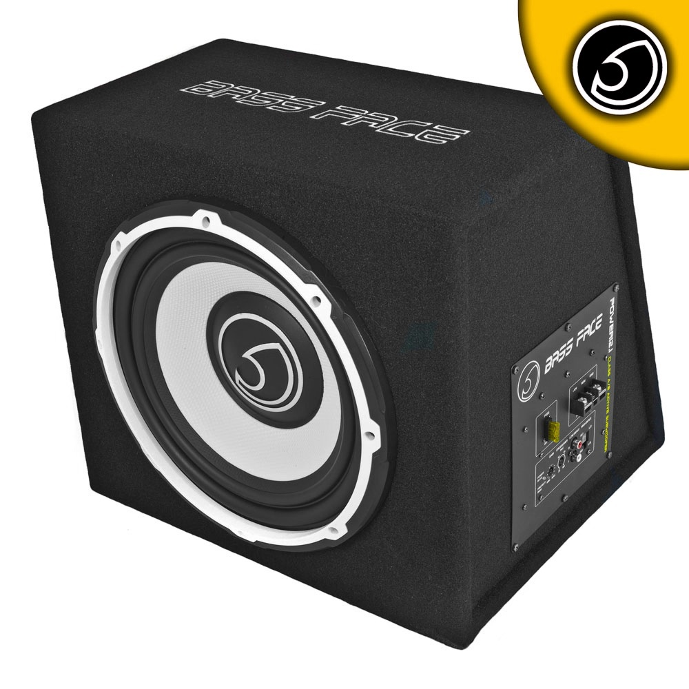 "Bassface POWER12.1 1300w 12"" Inch 30cm Subwoofer Unit With Integrated 12v Power Amplifier"