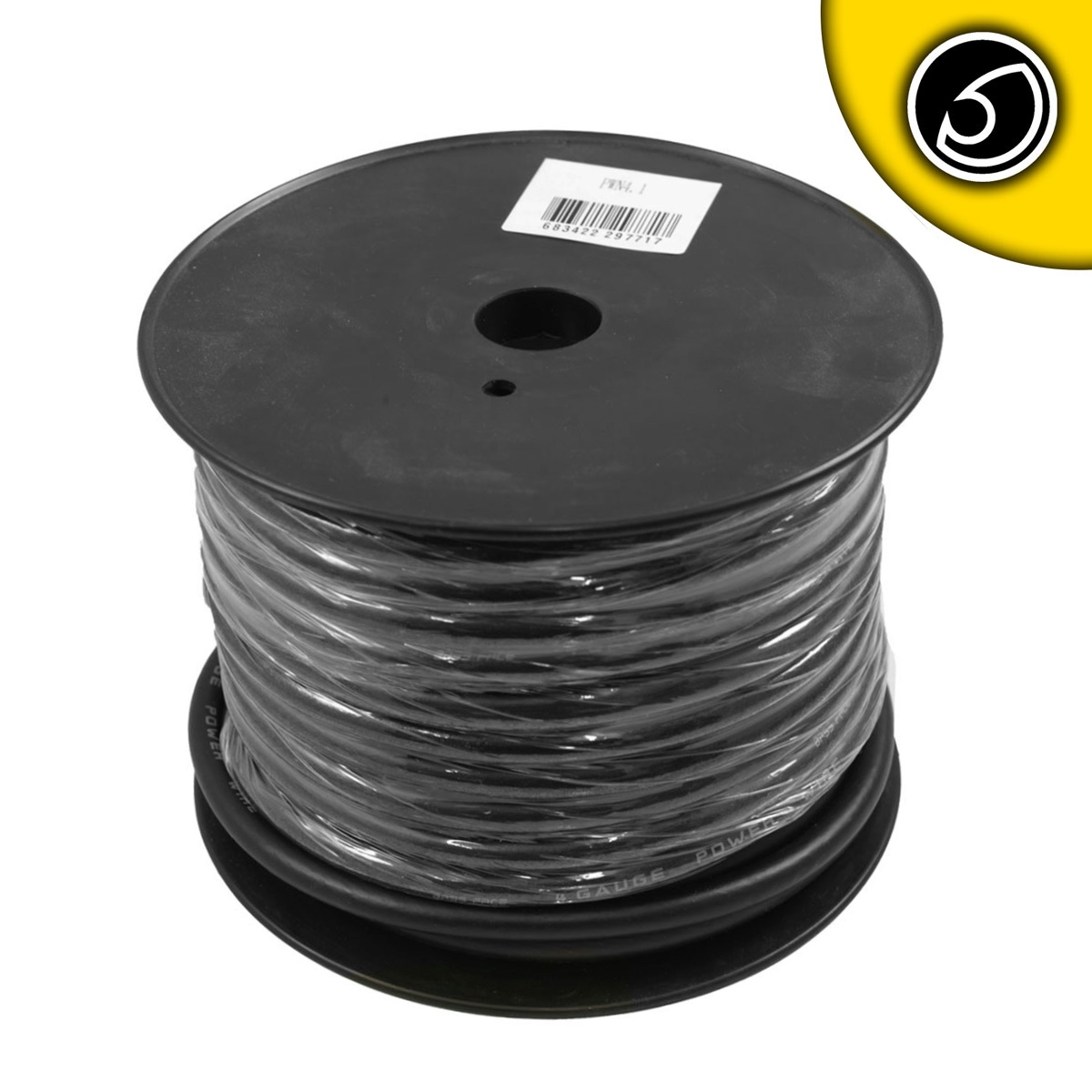 Bassface PWN4.1 CCA 4AWG 21mm Black Negative Wire Cable Spool 30m 1862 Strand