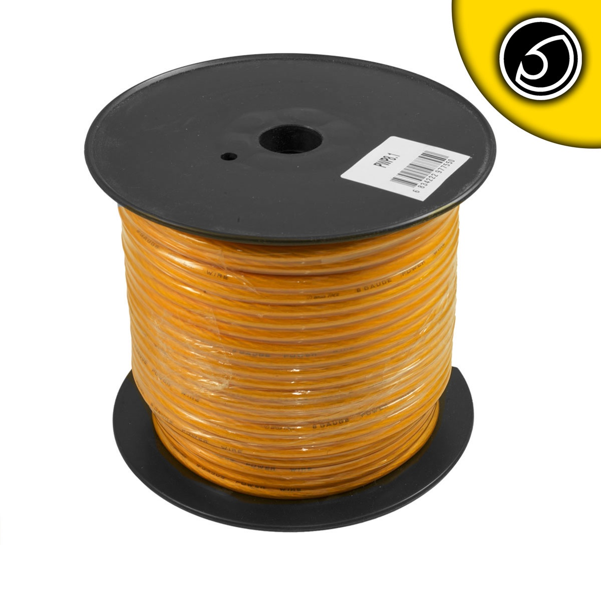 Bassface PWP8.1 CCA 8AWG 8.4mm Orange Power Wire Cable Spool 75m 728 Strand