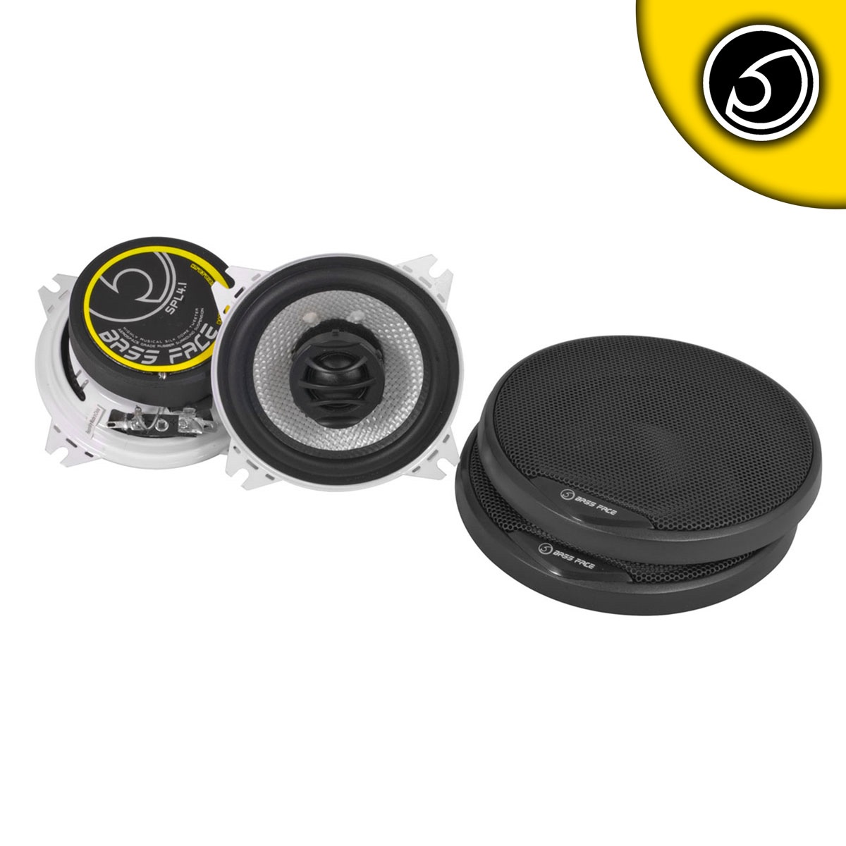 "Bassface SPL4.1 400w 4"" Inch 10cm Coaxial 2Way Car Door Dashboard Speakers Pair"
