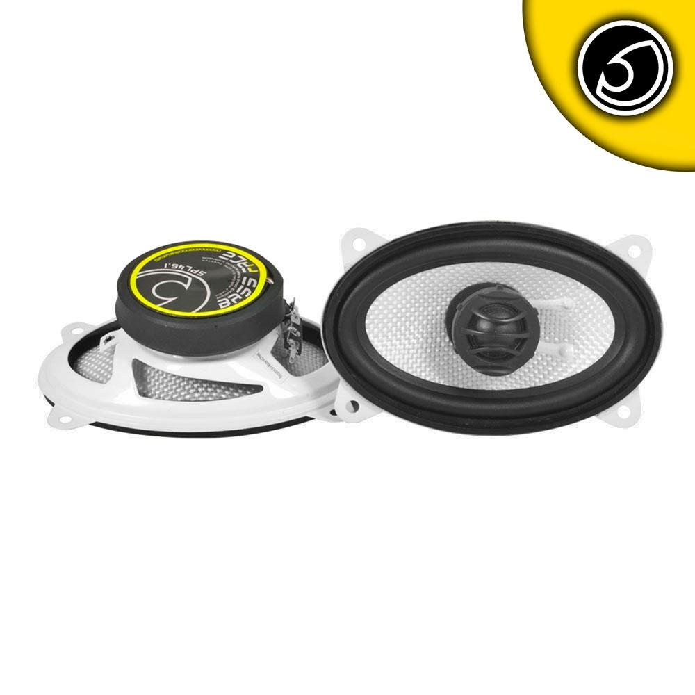 """Bassface SPL46.1 300w 4x6"""" Inch 10x15cm 4Ohm Coaxial 2 Way Speaker Pair"""