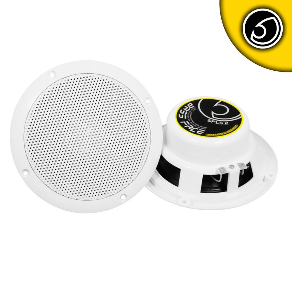 """Bassface SPL5.2 250w 5.25"""" Inch 13cm Waterproof Wall Ceiling Marine Speaker Pair"""