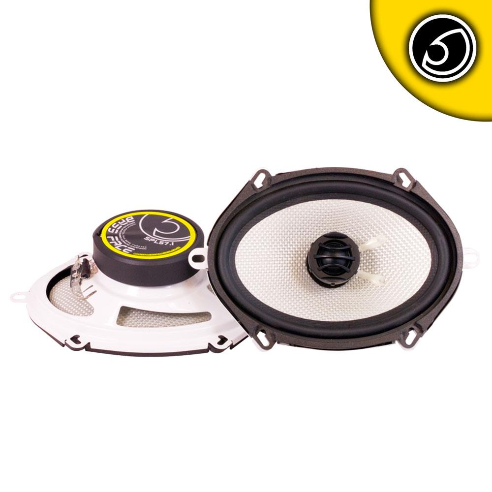 """Bassface SPL57.1 500w 5x7 6x8"""" Inch 14x19cm Coaxial 2Way Car Door Speakers Pair"""