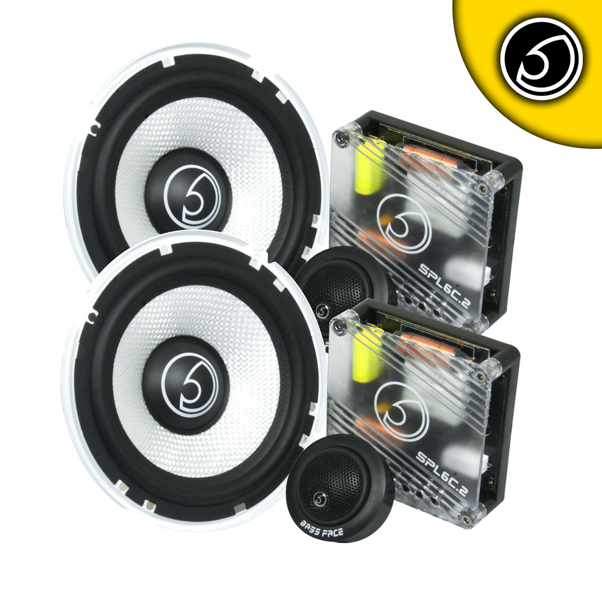 "Bassface SPL6C.2 900w 6.5"" Inch 16.5cm 4Ohm Component Speaker & Tweeter Kit"