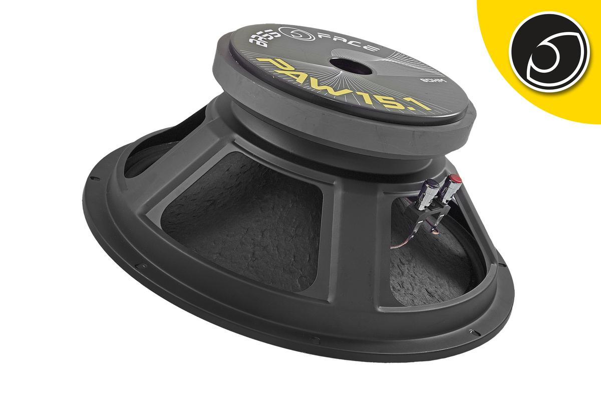 "Bassface PAW15.1 800w 15"" 38cm 8Ohm Mid Woofer Bass Driver SQ Speaker Single"