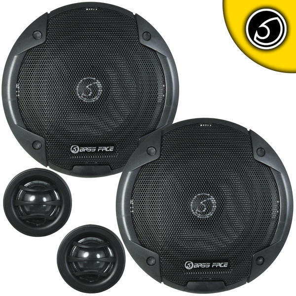 "Bassface BLACKSPL6C.1 900w 6.5"" Inch 17cm 4Ohm Component Speaker & Tweeter Kit Thumbnail 1"