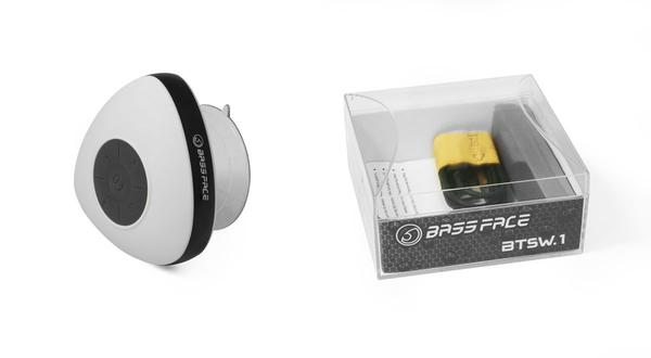 Bassface BTSW.1WHITE Waterproof Shower Bluetooth Speaker Iphone Android iPhone Thumbnail 3