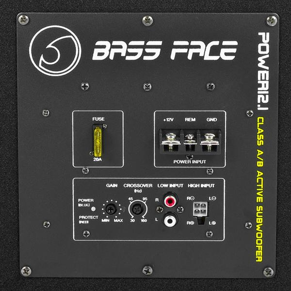 "Bassface POWER12.1 1300w 12"" Inch 30cm Subwoofer Unit With Integrated 12v Power Amplifier Thumbnail 3"