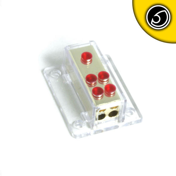 Bassface PWD048.1 Unfused 12V Car Audio Power Distribution Block 1x4AWG to 4x8AWG Thumbnail 1