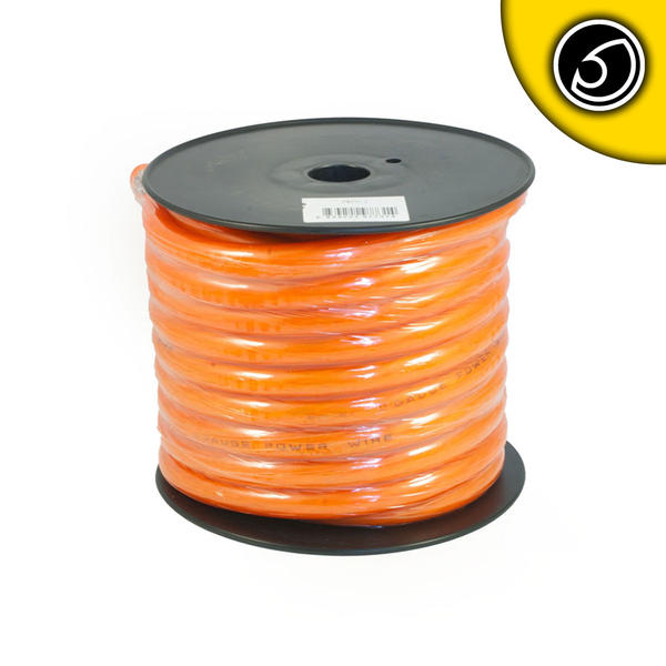 Bassface PWP0.1 CCA 0AWG 53mm Orange Power Wire Cable Spool 15m 4704 Strand Thumbnail 1