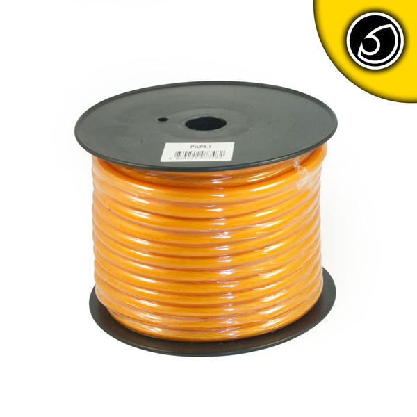 Bassface PWP4.1 30m Roll CCA 4AWG 21mm Orange Power Cable 1862 Strand Thumbnail 1