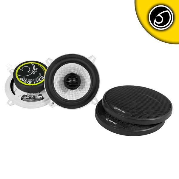 "Bassface SPL5.1 500w 5.25"" Inch 13cm 4Ohm Coaxial 2 Way Speaker Pair Thumbnail 1"