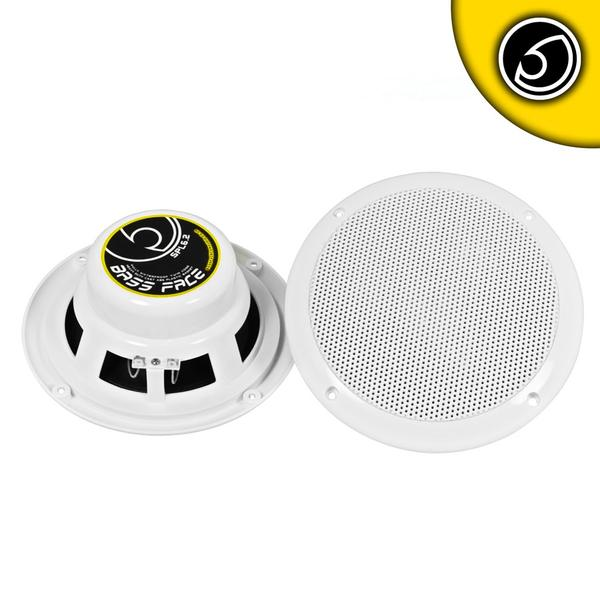 "Bassface SPL6.2 300w 6.5"" Inch 17cm Waterproof Wall Ceiling Marine Speaker Pair Thumbnail 1"