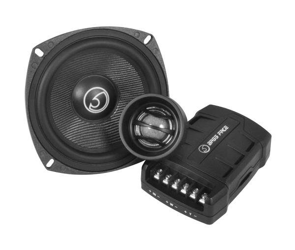 "Bassface BLACKSPL5C.1 800w 5.25"" Inch 13cm 4Ohm Component Speaker & Tweeter Kit Thumbnail 2"
