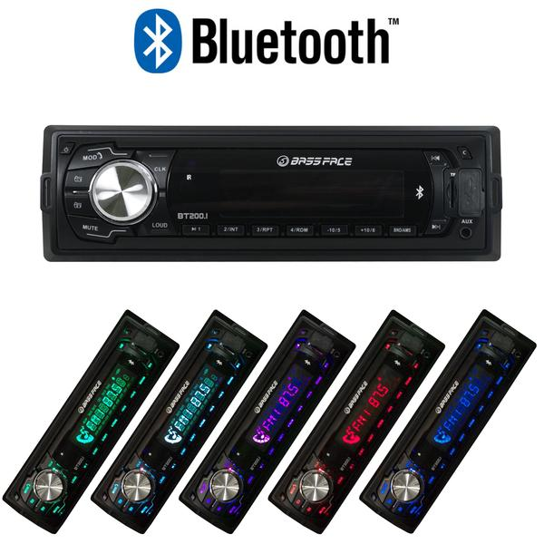 Bassface BT200.1 240w 12v Single DIN Bluetooth Head Unit With MP3 AUX USB SD & Radio Thumbnail 4