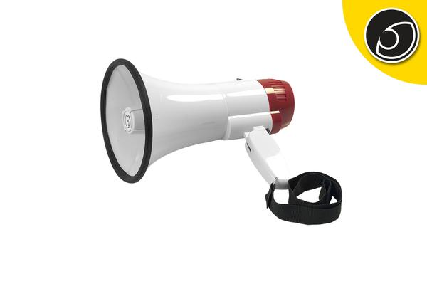 Bassface MP1.1 Battery Powered Pistol Grip Megaphone With 400m Voice Range Thumbnail 1