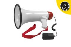 Bassface MP1.2 Battery Powered Pistol Grip Megaphone With 500m Voice Range