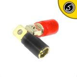 Bassface PRT0.1 Gold Plated 0AWG 50mm Ring Terminals Pair