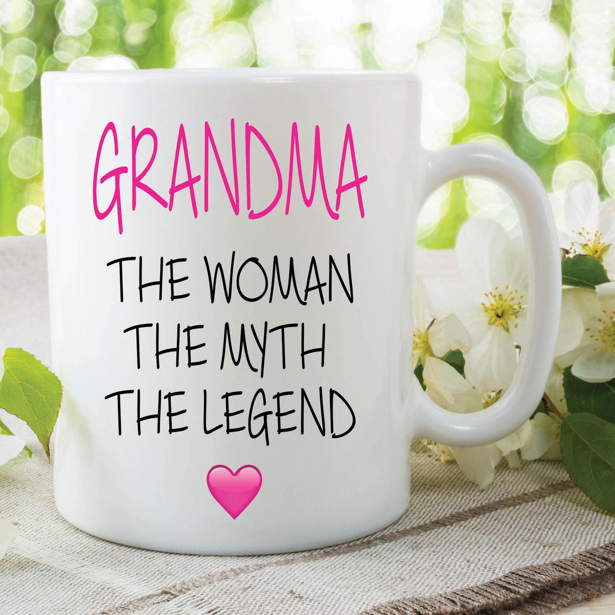 Novelty Grandma Mug The Woman The Myth The Legend Gift Mothers Day Cup WSDMUG636