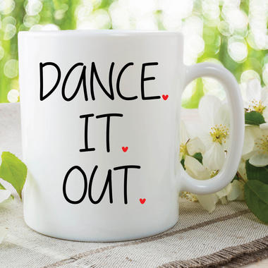 Novelty Mug Dance It Out Grey's Anatomy Meredith Cristina Ceramic TV WSDMUG632 Thumbnail 1