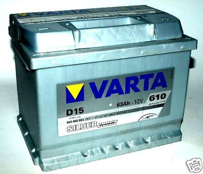varta silver d15 heavy duty 12v car battery 63ah size 027 ebay. Black Bedroom Furniture Sets. Home Design Ideas
