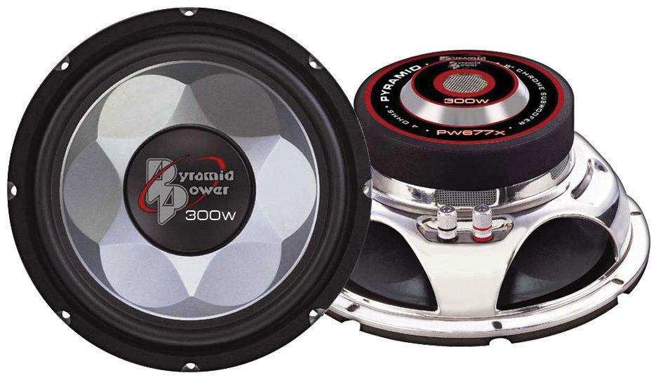 "Pyramid Power 6.5"" 16.5cm 300w Mid Bass Driver Car Door Shelf Subwoofer Speaker"