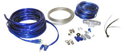 Lanzar AMPKIT4 4 Awg Gauge Car Amp Amplifier Power & Earth Wiring Kit 5m RCA