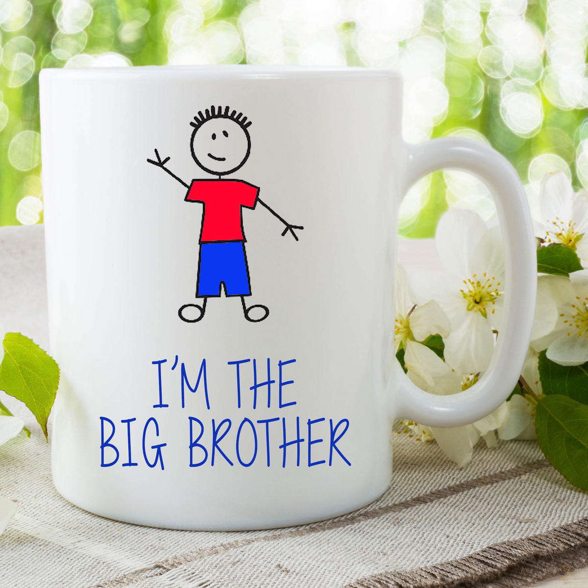 I'm The Big Brother Funny Mug Gift For Son Surprise Baby Announcement WSDMUG642