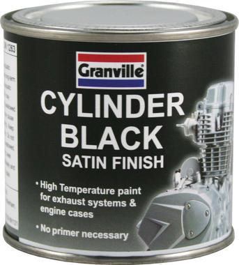 GRANVILLE 0246 Black Satin Cylinder Brush On Paint 100ml Thumbnail 1