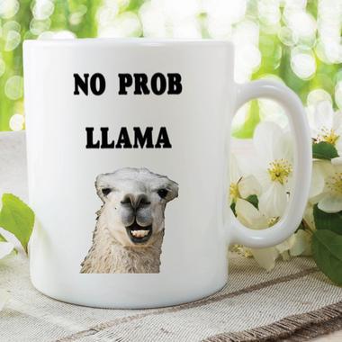 Funny Novelty Mugs Joke Adult Humour No Prob Llama Work Office Coffee WSDMUG614 Thumbnail 1