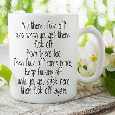 Funny Novelty Mugs Work Office Humour Cup Ceramic Joke Adult Offensive WSDMUG658 Thumbnail 1